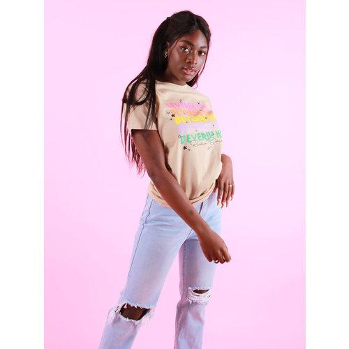Azuka Beverly Hills (rock fit) - T-Shirt Sand