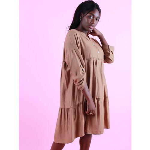 Coutureve Viscose Dress Camel