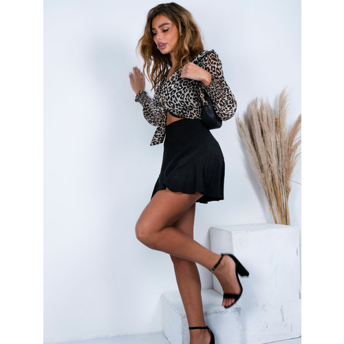 Drôle de  Copine Zoe Top Leopard Brown/Black