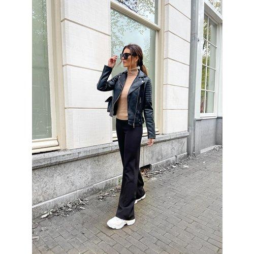 Copperose Biker Jacket Black