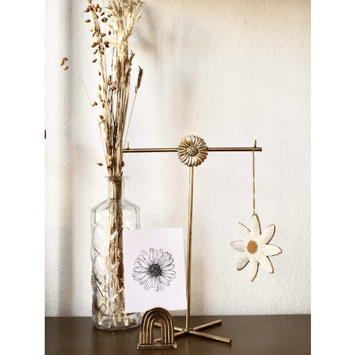 Daisy jewellery stand Gold