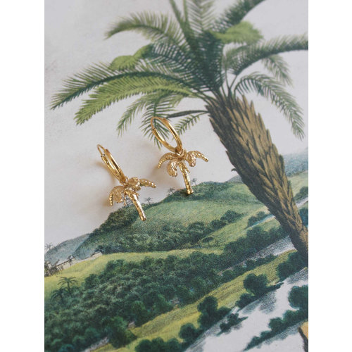 Palmtree 3D pair of earrings