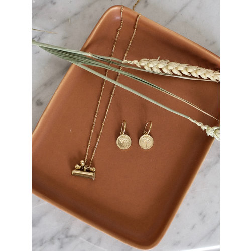 Earrings small Palmtree coin pair