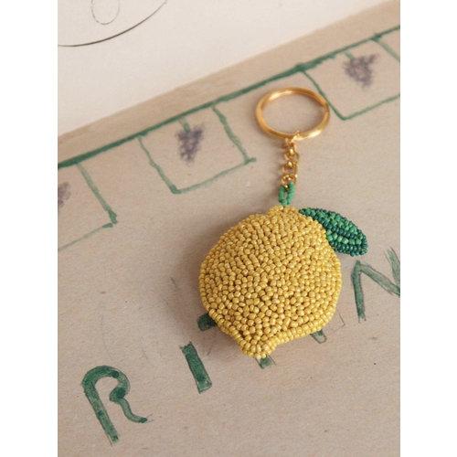 Beaded Lemon Keychain