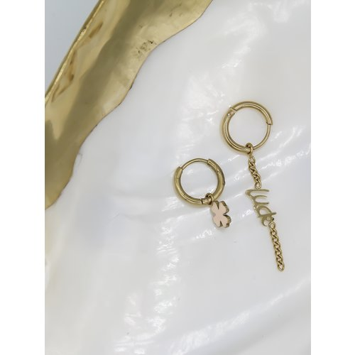 Ladylike  Fashion Luck Earrings Gold