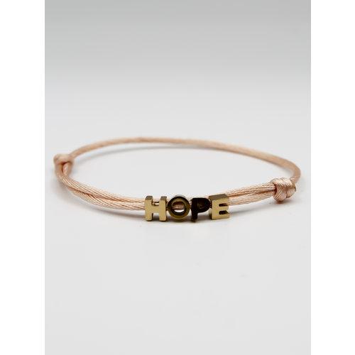 Ladylike  Fashion HOPE Bracelet Gold / Pink