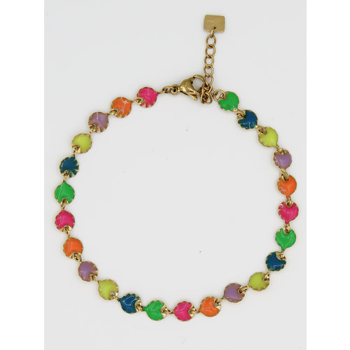 Ladylike  Fashion Colored Bracelet Gold