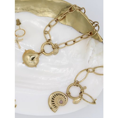Yehwang Bracelet Clam Shell Gold