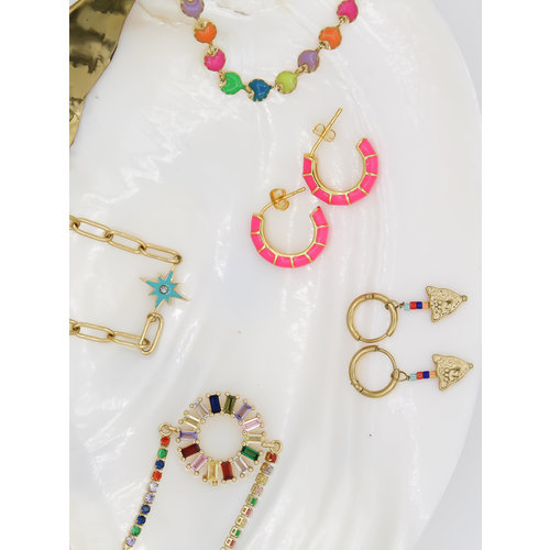 Ladylike  Fashion Colored Leopard Earrings Gold