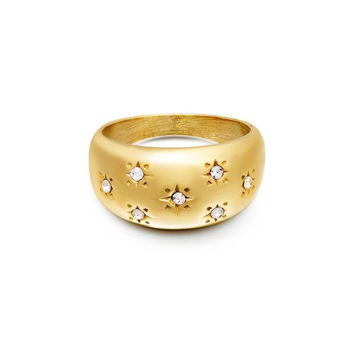 Yehwang Ring Diamond Flowers Gold