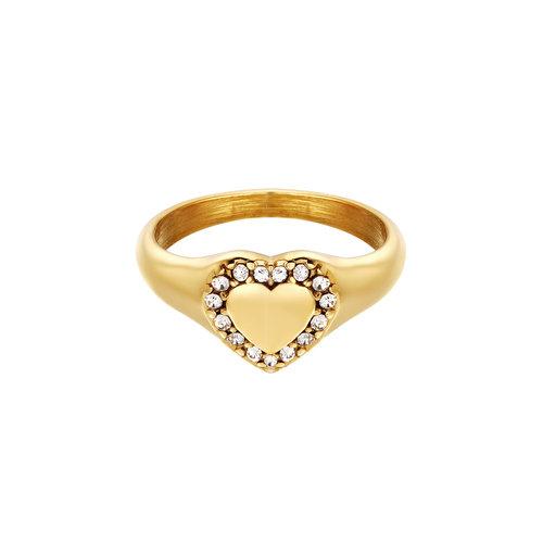 Yehwang Ring Diamond Heart Gold