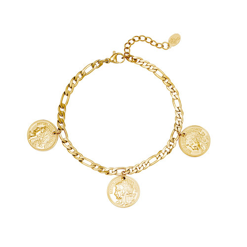 Yehwang Bracelet Ancient Coinage Goud