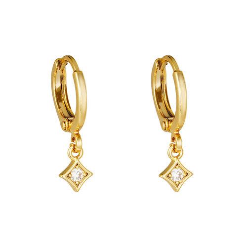 Yehwang Earrings Gleam Gold