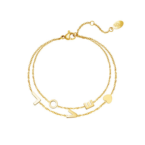 Yehwang Bracelet Love Gold