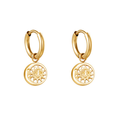 Yehwang Earrings Sunny Side Up Gold