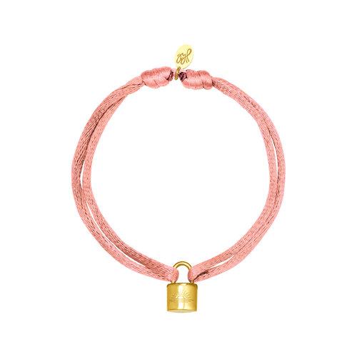Yehwang Bracelet Satin Lock Pink