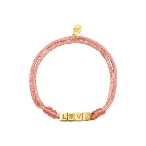 Yehwang Bracelet Satin Love Pink
