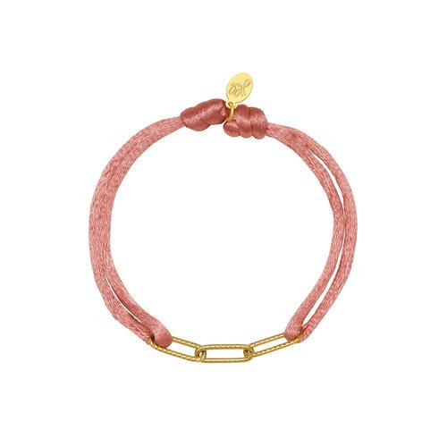 Yehwang Bracelet Satin Chains Pink
