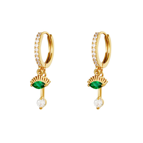 Yehwang Earrings Blink of an Eye Gold