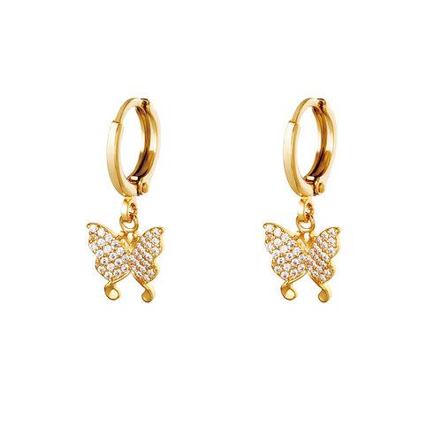 Yehwang Earrings Flying diamonds Gold