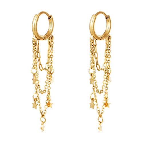 Yehwang Earrings Galaxy Gold