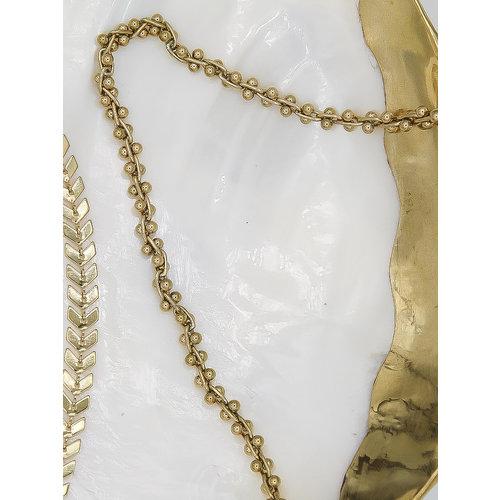 Ladylike  Fashion Dots Necklace Gold