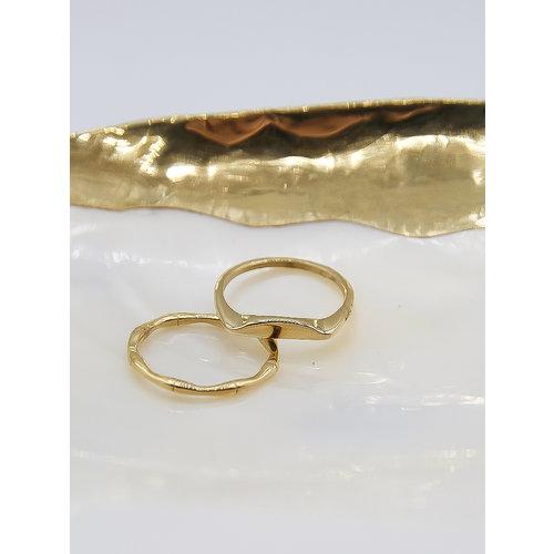 Ladylike  Fashion Simple Flat Ring Gold