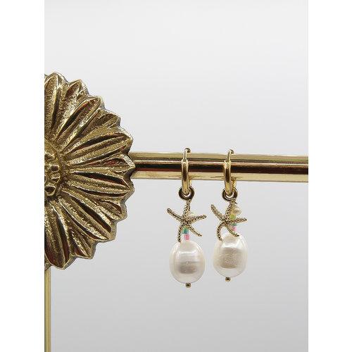 Ladylike  Fashion Starfish Earrings Gold