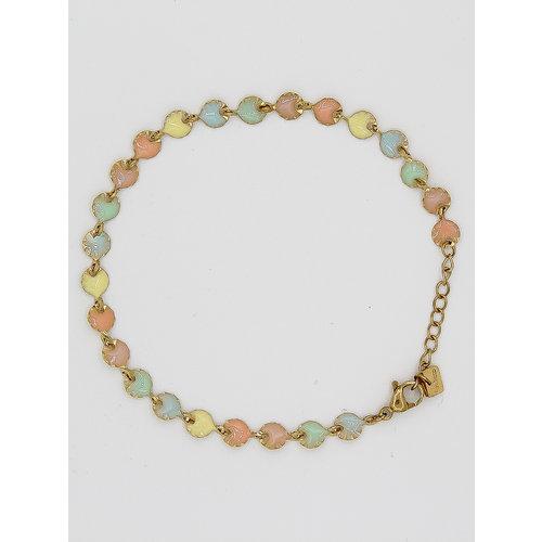 Ladylike  Fashion Colored Pastel Bracelet Gold
