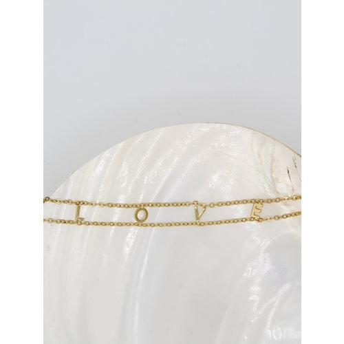Ladylike  Fashion LOVE Bracelet Gold