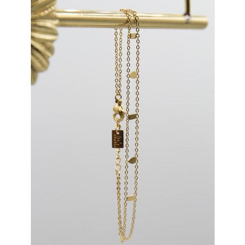 Ladylike  Fashion Symbol Bracelet Gold