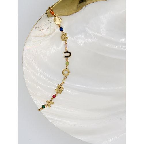 Ladylike  Fashion AMOUR Bracelet Gold
