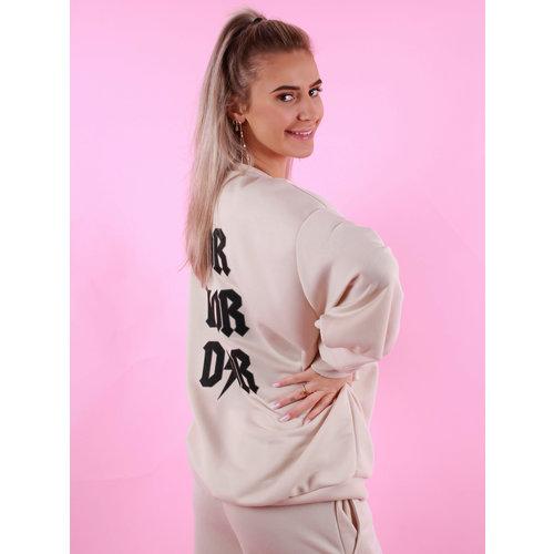 Pretty Body Brand Oversized Sweater Beige