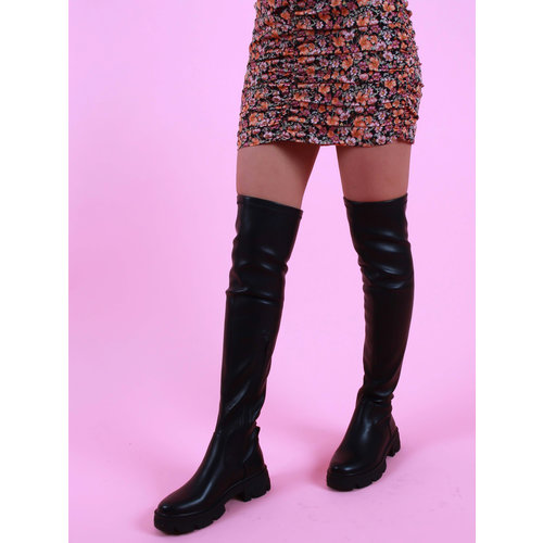 Marquiiz Overknee Boots Faux Leather Black