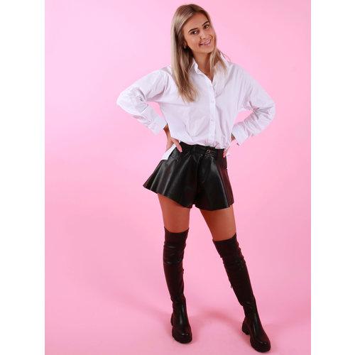 Retro Icone Basic Blouse Short White