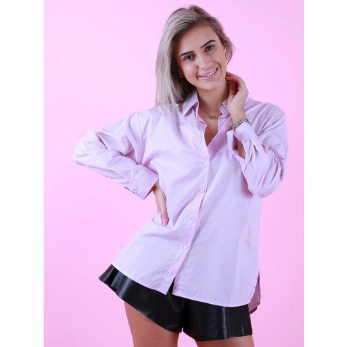 Retro Icone Basic Blouse Short Pink