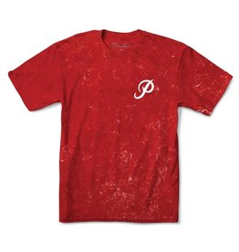 PRIMITIVE PRIMITIVE, CLASSIC P WASHED SS TEE, CARDINAL WASH
