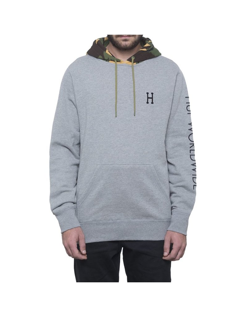 HUF HUF, VOYAGE FRENCH TERRY P/O HOODIE, ATHLETIC HEATHER