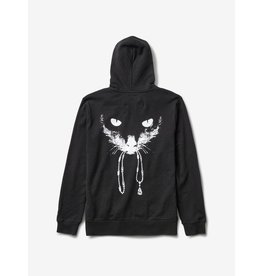 DIAMOND DIAMOND, BOMBAY ZIP UP HOODIE, BLACK