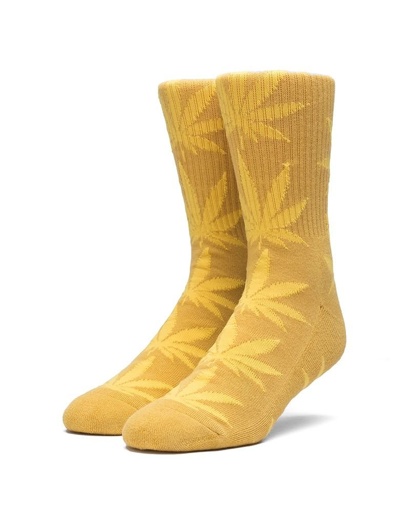 HUF HUF, MELANGE LEAVE CREW SOCKS, HONEY MUSTARD
