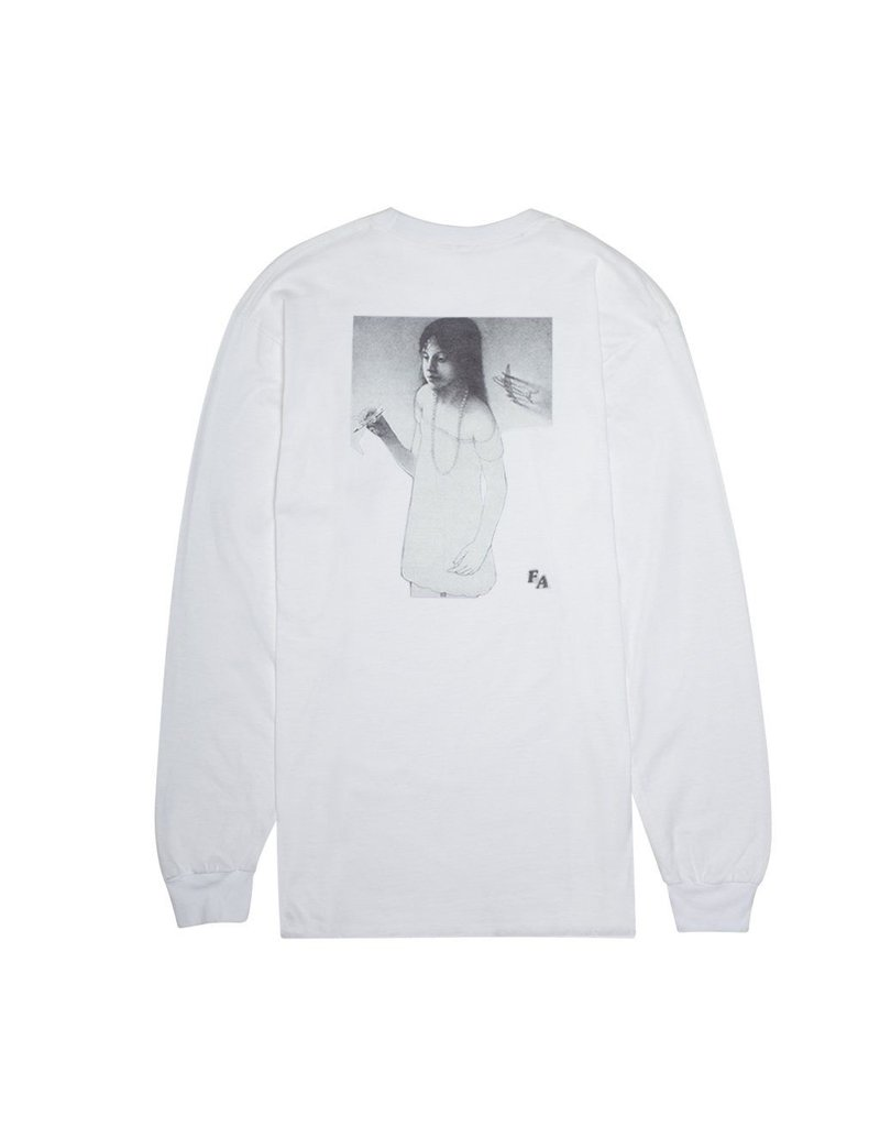 FUCKING AWESOME FUCKING AWESOME Plane Girl L/S Tee - White