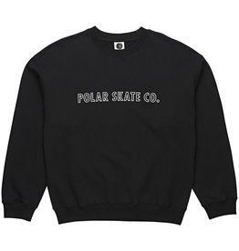 POLAR POLAR Outline Crewneck  Black