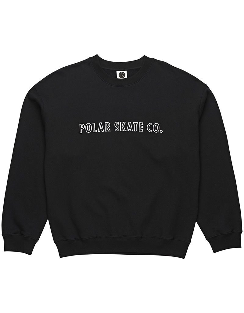 POLAR POLAR Outline Crewneck  Black