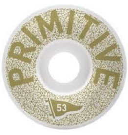 PRIMITIVE PRIMITIVE, WHEELS, CHANNEL ZERO TEAM WHEEL, GOLD, 53 mm