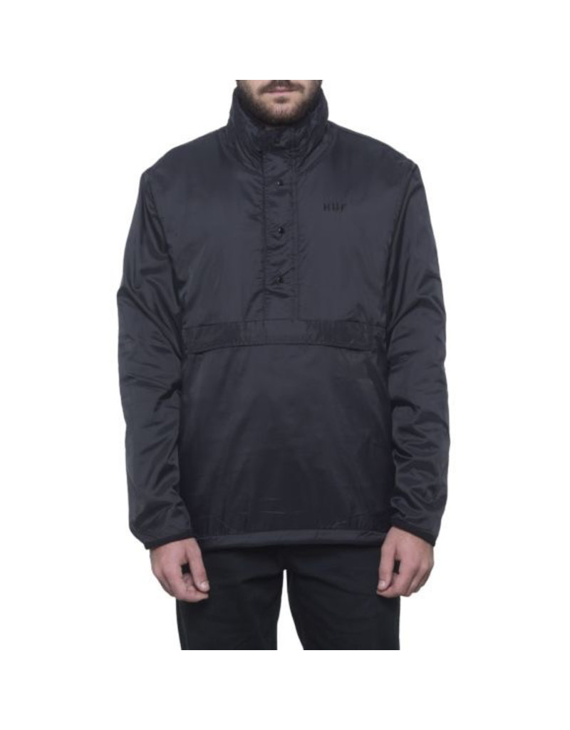 HUF HUF, KUMO REVERSIBLE 1/4 ZIP JACKET, BLACK
