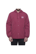 HUF HUF, SERIF QUILTED COACHES JACKET, TERRA COTTA