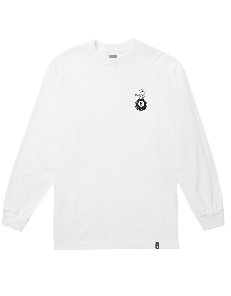 HUF HUF, PEANUTS FLYING ACE L/S TEE, WHITE
