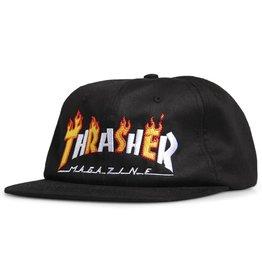 THRASHER THRASHER FLAME MAG SNAPBACK BLACK OS
