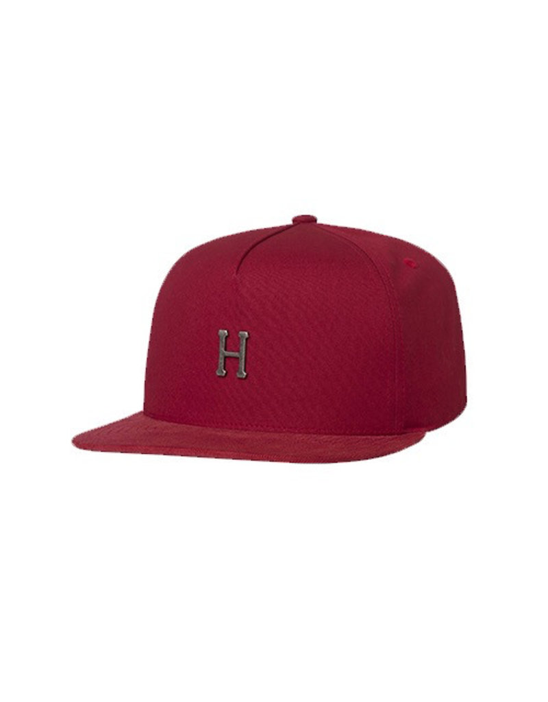 HUF HUF, METAL H STRAPBACK HAT, RESORT RED