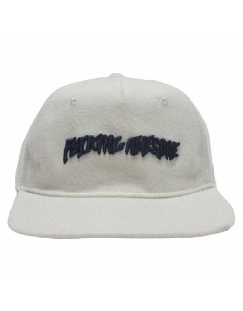 FUCKING AWESOME FUCKING AWESOME Classic Logo Hat Wool White